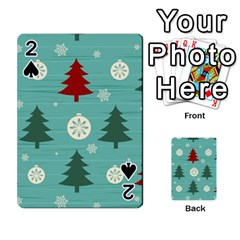 Christmas Tree With Snow Seamless Pattern Vector Playing Cards 54 Designs