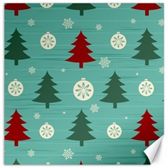 Christmas Tree With Snow Seamless Pattern Vector Canvas 16  X 16