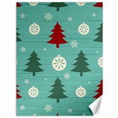 Christmas Tree With Snow Seamless Pattern Vector Canvas 36  X 48