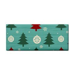 Christmas Tree With Snow Seamless Pattern Vector Cosmetic Storage Cases