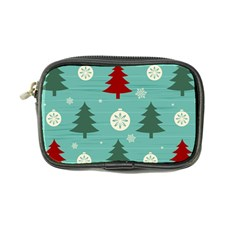 Christmas Tree With Snow Seamless Pattern Vector Coin Purse