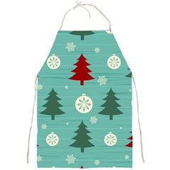 Christmas Tree With Snow Seamless Pattern Vector Full Print Aprons