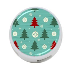 Christmas Tree With Snow Seamless Pattern Vector 4 Port Usb Hub (one Side)