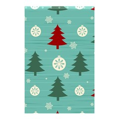 Christmas Tree With Snow Seamless Pattern Vector Shower Curtain 48  X 72  (small)