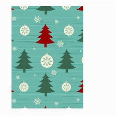 Christmas Tree With Snow Seamless Pattern Vector Large Garden Flag (two Sides)