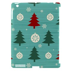 Christmas Tree With Snow Seamless Pattern Vector Apple Ipad 3/4 Hardshell Case (compatible With Smart Cover)