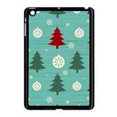 Christmas Tree With Snow Seamless Pattern Vector Apple Ipad Mini Case (black)