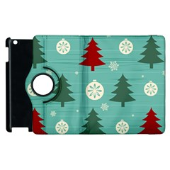 Christmas Tree With Snow Seamless Pattern Vector Apple Ipad 3/4 Flip 360 Case
