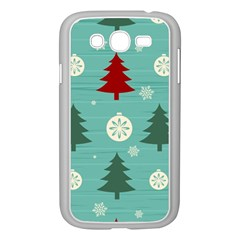 Christmas Tree With Snow Seamless Pattern Vector Samsung Galaxy Grand Duos I9082 Case (white)