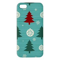 Christmas Tree With Snow Seamless Pattern Vector Iphone 5s/ Se Premium Hardshell Case