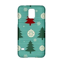Christmas Tree With Snow Seamless Pattern Vector Samsung Galaxy S5 Hardshell Case