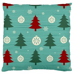 Christmas Tree With Snow Seamless Pattern Vector Large Flano Cushion Case (two Sides)