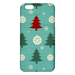 Christmas Tree With Snow Seamless Pattern Vector Iphone 6 Plus/6s Plus Tpu Case