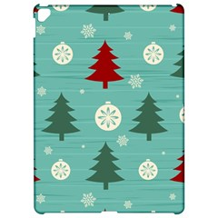 Christmas Tree With Snow Seamless Pattern Vector Apple Ipad Pro 12 9   Hardshell Case