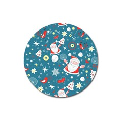 Christmas Stockings Vector Pattern Magnet 3  (round)