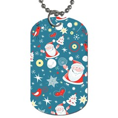 Christmas Stockings Vector Pattern Dog Tag (two Sides)