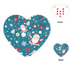 Christmas Stockings Vector Pattern Playing Cards (heart)