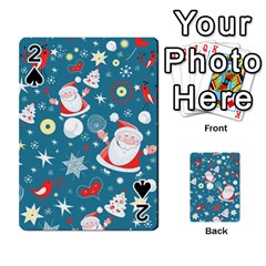 Christmas Stockings Vector Pattern Playing Cards 54 Designs