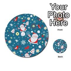 Christmas Stockings Vector Pattern Multi-purpose Cards (Round)
