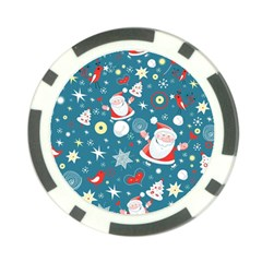 Christmas Stockings Vector Pattern Poker Chip Card Guards (10 Pack)