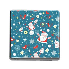 Christmas Stockings Vector Pattern Memory Card Reader (square)