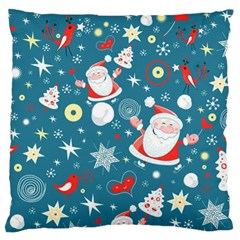 Christmas Stockings Vector Pattern Large Cushion Case (two Sides)