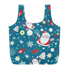 Christmas Stockings Vector Pattern Full Print Recycle Bags (l)