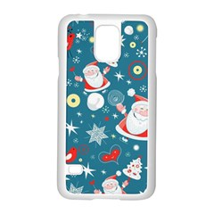 Christmas Stockings Vector Pattern Samsung Galaxy S5 Case (white)