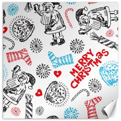 Christmas Doodle Pattern Canvas 16  X 16