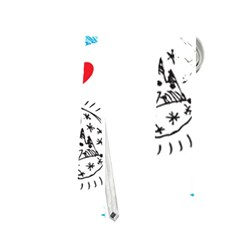 Christmas Doodle Pattern Neckties (one Side)