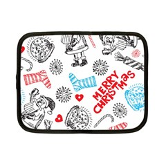 Christmas Doodle Pattern Netbook Case (small)