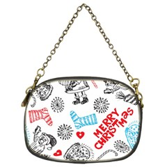 Christmas Doodle Pattern Chain Purses (two Sides)
