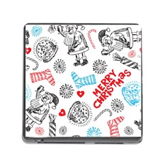 Christmas Doodle Pattern Memory Card Reader (square)