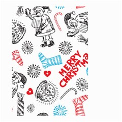 Christmas Doodle Pattern Small Garden Flag (two Sides)