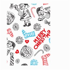 Christmas Doodle Pattern Large Garden Flag (two Sides)
