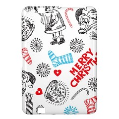 Christmas Doodle Pattern Kindle Fire Hd 8 9