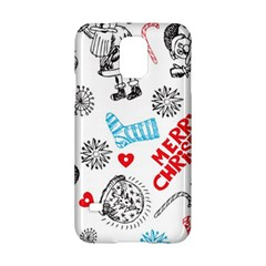 Christmas Doodle Pattern Samsung Galaxy S5 Hardshell Case