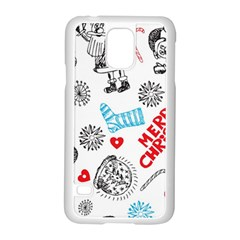 Christmas Doodle Pattern Samsung Galaxy S5 Case (white)