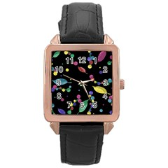 Space Garden Rose Gold Leather Watch
