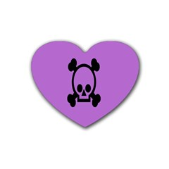 Cartoonskull Danger Heart Coaster (4 Pack)