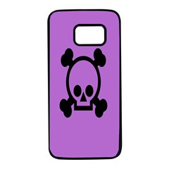 Cartoonskull Danger Samsung Galaxy S7 Black Seamless Case