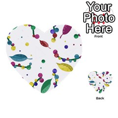 Abstract floral design Multi-purpose Cards (Heart)