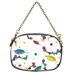 Abstract Floral Design Chain Purses (one Side)