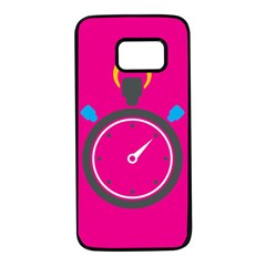 Alarm Clock Houre Samsung Galaxy S7 Black Seamless Case