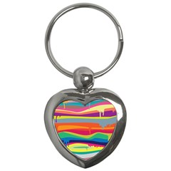 Colorfull Rainbow Key Chains (heart)