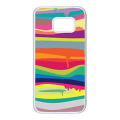 Colorfull Rainbow Samsung Galaxy S7 White Seamless Case