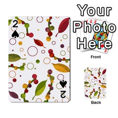 Adorable floral design Playing Cards 54 Designs
