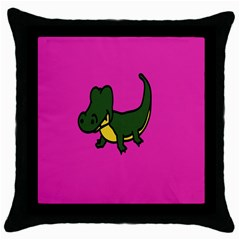 Crocodile Throw Pillow Case (black)