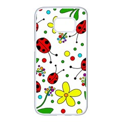 Ladybugs Samsung Galaxy S7 Edge White Seamless Case
