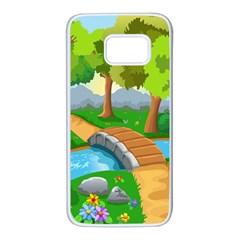 Cute Cartoon Samsung Galaxy S7 White Seamless Case
